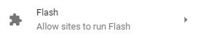 Allow Flash